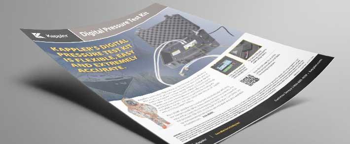 Download a pdf of the Kappler digital pressure test kit informational flyer